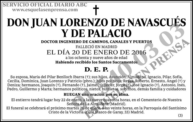 Juan Lorenzo de Navascués y de Palacio